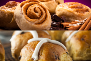 cinnamon rolls and buns